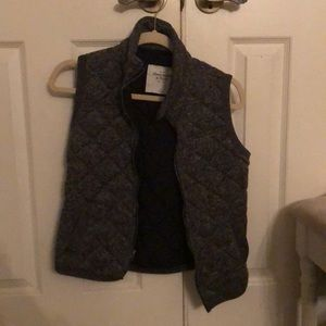 Grey/black Abercrombie &Fitch Vest